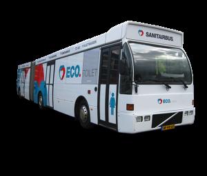 De luxe vijfsterren sanitairbus van ECO Toilet