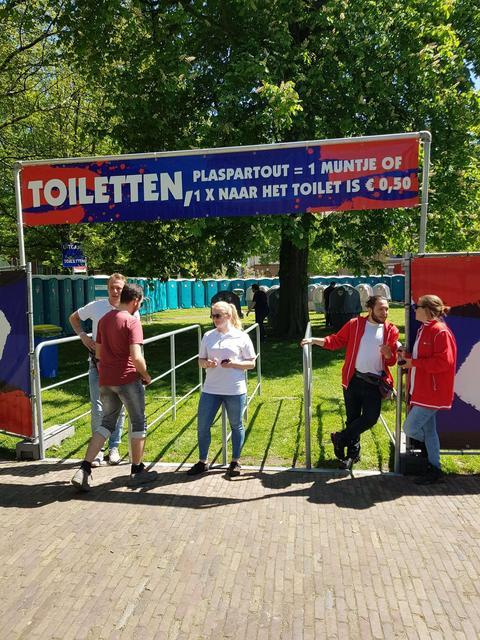Freshteam voor schoon en frisgarantie tijdens Bevrijdingsfestival Haarlem