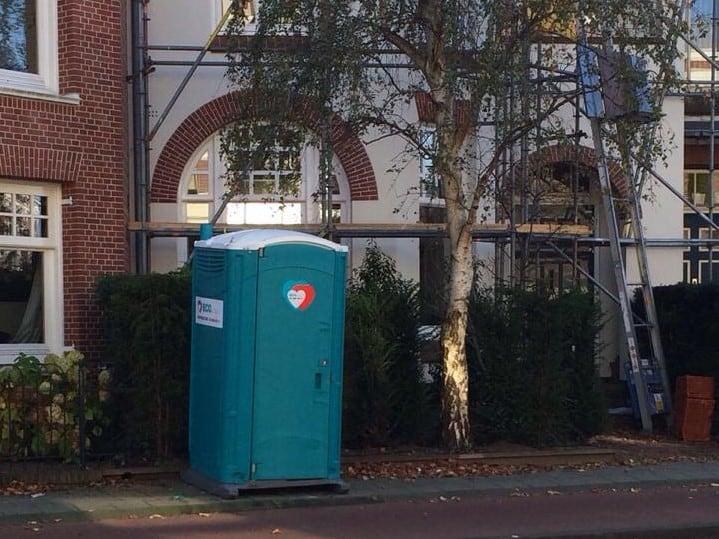 ECO Toilet tijdens een verbouwing voor het huis