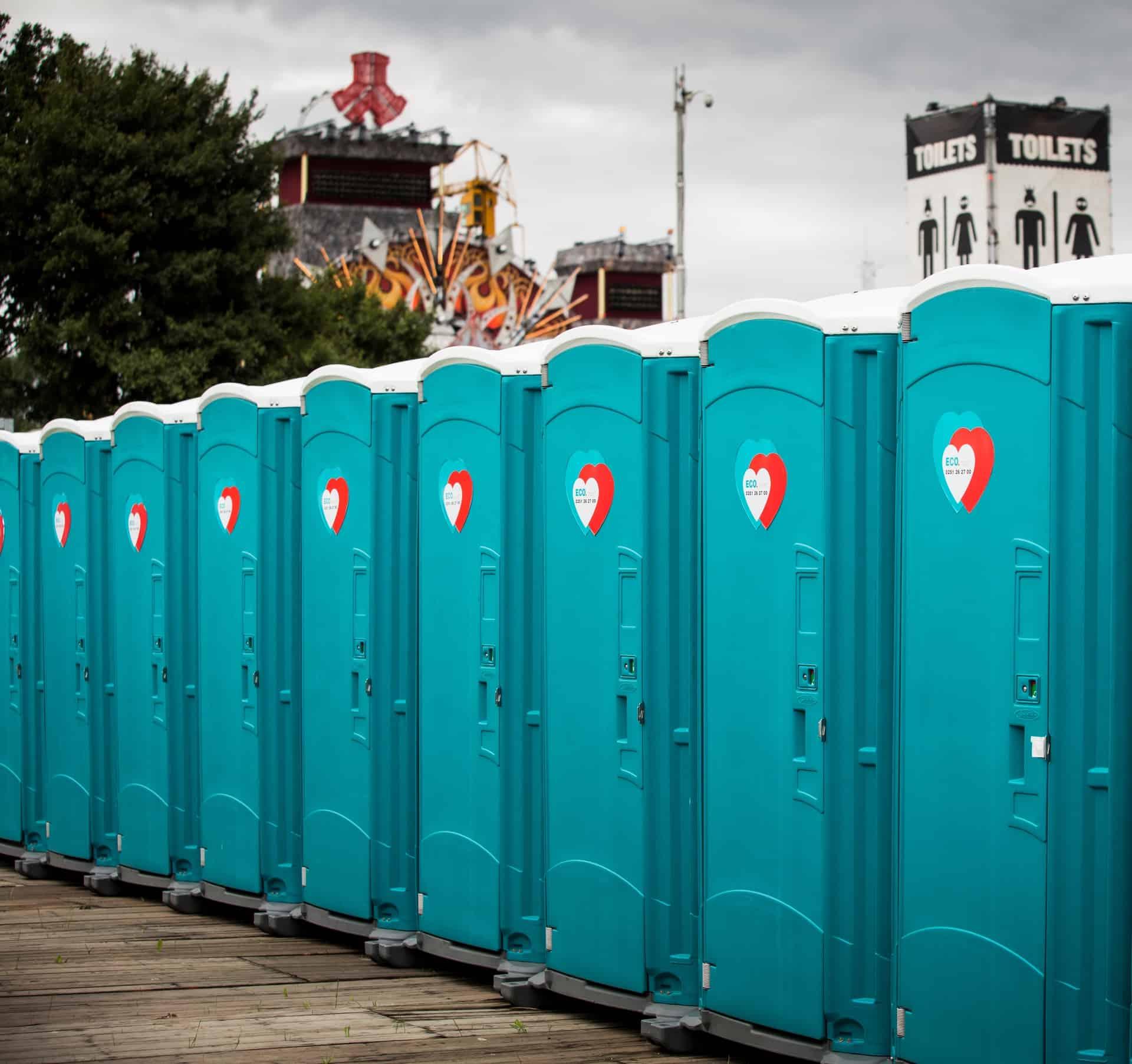 ECO toiletten voor festival