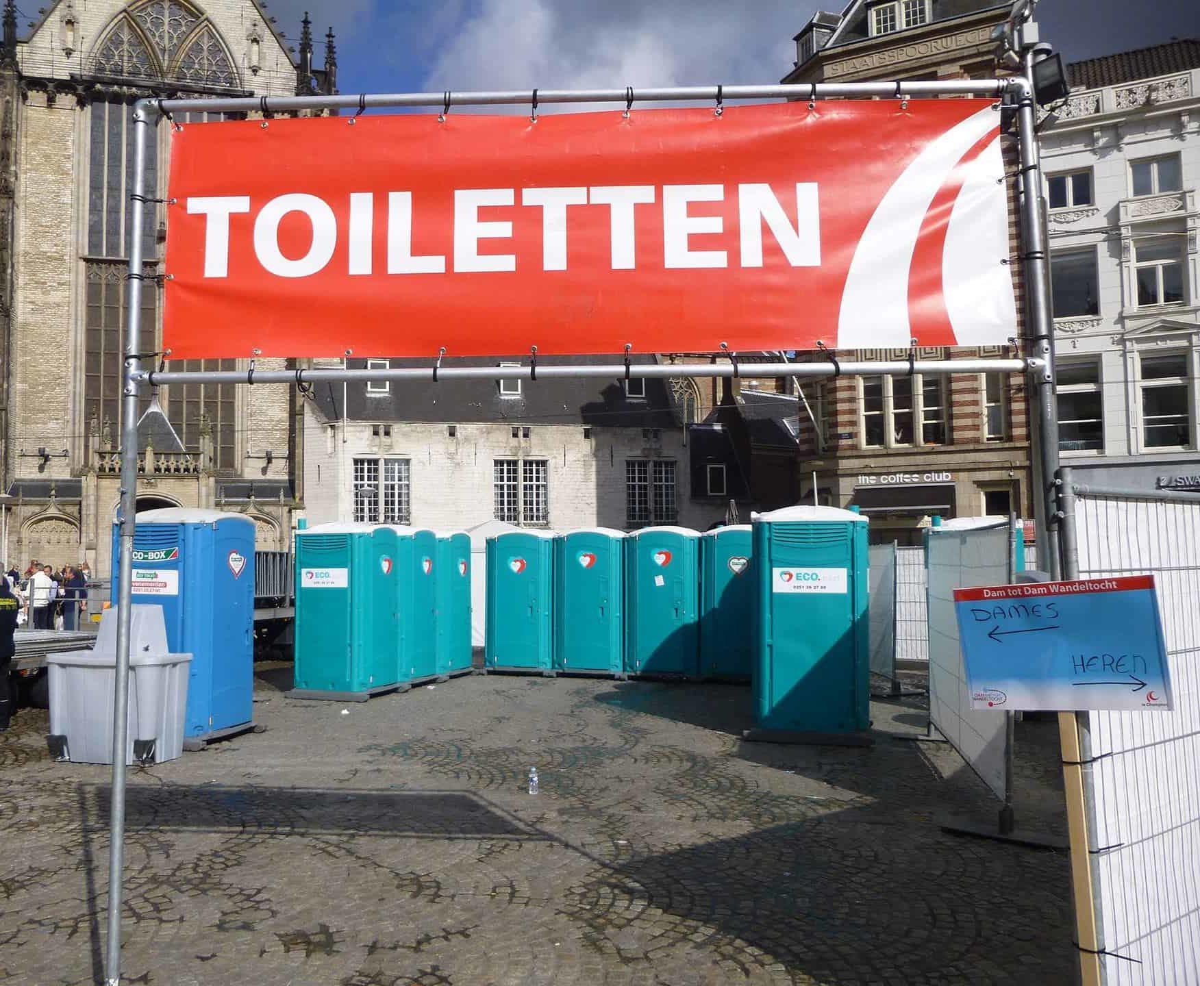 Toilet verhuur evenementen